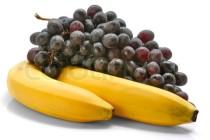 grape and bananas