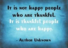 Happy Thankful Thankful Happy